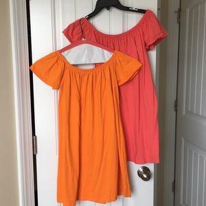 ASOS off the shoulder dress bundle